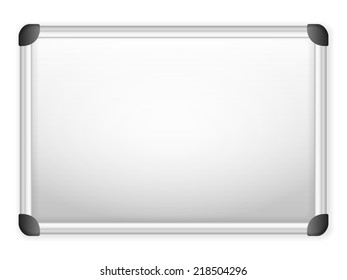 Whiteboard on a white background. Vector illustration.