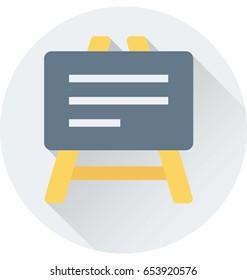 Whiteboard Vector Icon