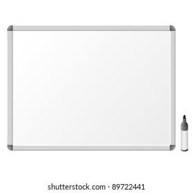 Whiteboard. Vector Illustration
