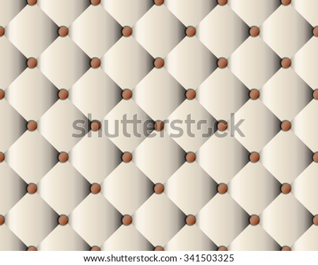 Whitebrown Upholstery Sofa Texture Pattern Background Stock Vector