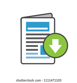 Whitepaper or Ebook CTA w Cover and Download Button for Free Digital Download - Call for Marketing Action