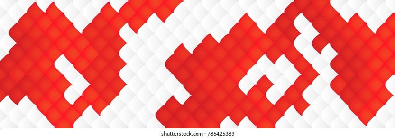 White-red Background ,Abstract Concept  Koi fish ,Carp fish scale White-red Gradient ,Vector