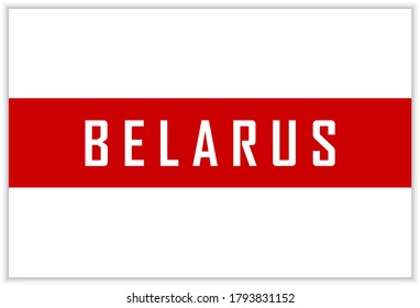 White-red-white flag of Belarus. White-red-white flag as a symbol of the opposition to the goverment. Vector illustration.