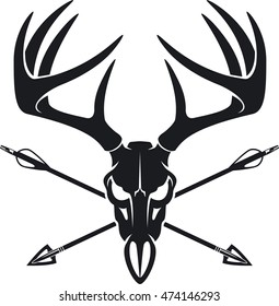 deer skull images stock photos vectors shutterstock rh shutterstock com  deer skull clipart black and white