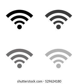 wi fi -  black vector icon