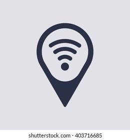Wi fi  icon,  isolated. Flat  design.