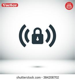 Wi fi password vector icon
