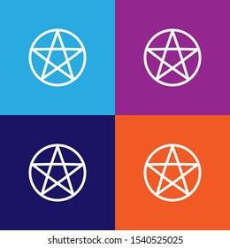 wicca pentagram sign icon. detailed wicca pentagram icon can be used for web and mobile