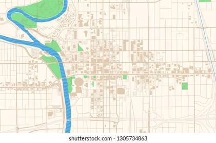 Wichita Kansas Map Images Stock Photos Vectors Shutterstock