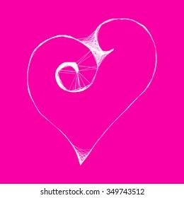 Wicker heart  - vector illustration