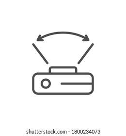 Wide angle camera line icon