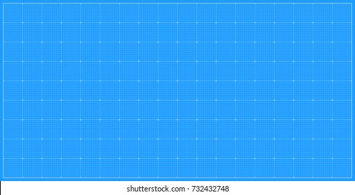 Wide blueprint background. Vector illustration
