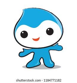 Wide cartoon vector and illustrator,wide mascot,Energy cartoon