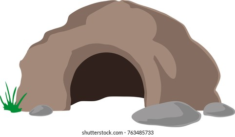 Wide cave entrance