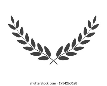 Wide laurel wreath vector image isolated on white background
