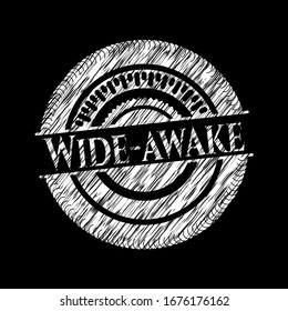 Wide-awake with chalkboard texture. Vector Illustration. Detailed.