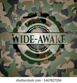 Wide-awake on camo texture. Vector Illustration. Detailed.