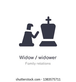 widow / widower icon. isolated widow / widower icon vector illustration from family relations collection. editable sing symbol can be use for web site and mobile app