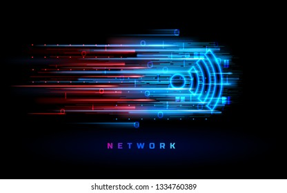 Wifi antenna for data transfer background. Free wi-fi zone symbol. beacon or data transfer cloud concept. Router or mobile transmission. Wi fi signal for hotspot. Wireless technology, communication
