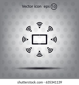 WiFi around the tablet icon
