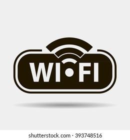 Wifi black icon concept logo or icon