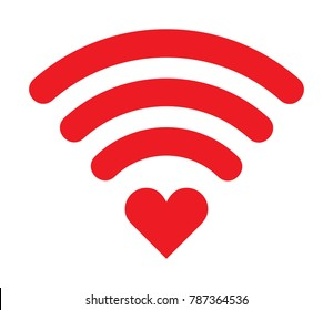 wifi heart icon