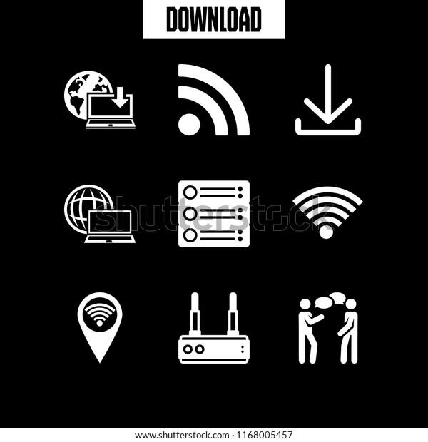 Wifi Icon 9 Wifi Vector Set Stock Vector (Royalty Free