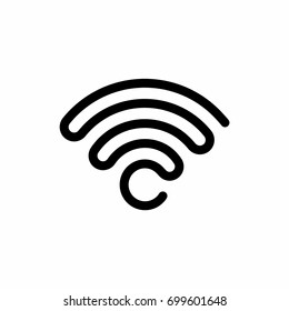 Wi-fi icon. Connect symbol vector illustration. Internet signal logo.
