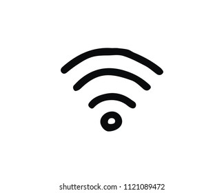 wifi icon design illustration,hand drawn style design, designed for web and app