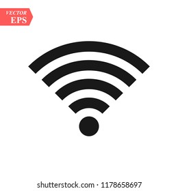 Wifi icon. Internet access. Whrite backround. Vector illustration