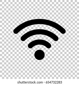 Wifi icon isolated on transparent background. Black symbol for your design. Vector illustration, easy to edit.