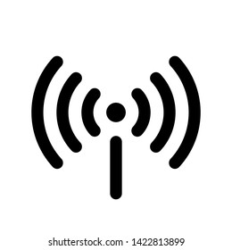 Wifi icon isolated on white background. Free wifi icon. Vector wlan access, wireless wifi hotspot signal sign, icon, symbol. Ready symbol for interface design of various types of devices and more.