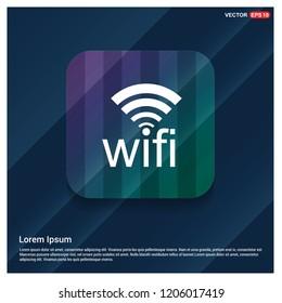 Wifi icon logo - Free vector icon