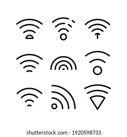 wifi icon or logo isolated sign symbol vector illustration - Collection of high quality black style vector icons