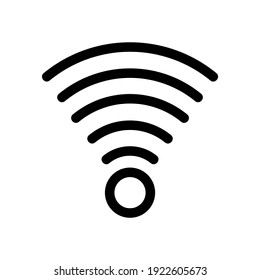 wifi icon or logo isolated sign symbol vector illustration - high quality black style vector icons