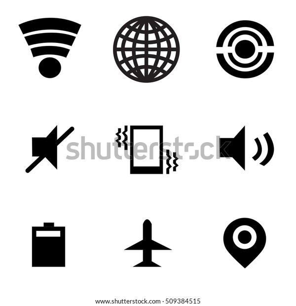 Wifi Icon Mobile Data Icon Personal Stock Vector (Royalty Free