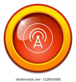 wifi icon - satellite tv or radio antenna aerial illustration, communication tower - telecommunications icon