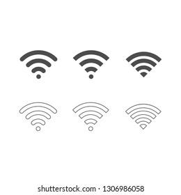 WiFi icon set . Vector . EPS 10
