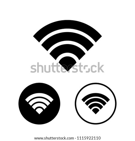 Wifi Icon Set Vector Illustration Stock Vector Royalty Free