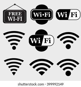 Wifi  icon set.Wireless vector