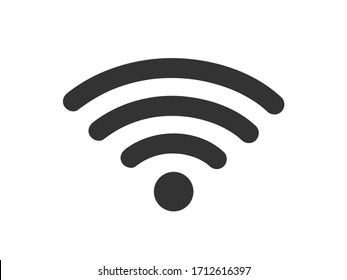 Wifi icon. Simple wifi connection vector illustration.
