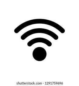 wifi icon symbol vector. on white background