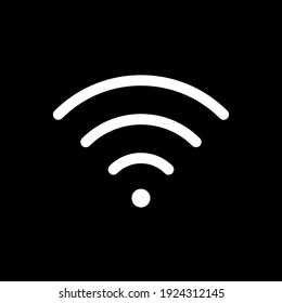 Wi-fi icon. Wifi symbol. Wireless internet connection sign. Simple flat shape logo. Black silhouette isolated on white background. Vector illustration image.