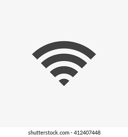 Wifi Icon in trendy flat style isolated on grey background. Wireless network symbol for your web site design, logo, app, UI. Vector illustration, EPS10.