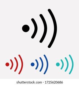 Wifi icon vector. Signal sign