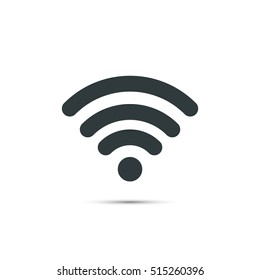 Wifi icon vector, wifi simple connect symbol isolated on white background.