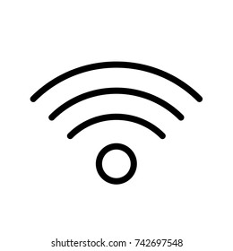 Wi-Fi Icon, Wi-Fi icon vector, in trendy flat style isolated on white background. Wi-Fi icon image, Wi-Fi icon illustration