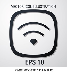 Wi-Fi Icon. Web stock infographics. Flat style for graphic and web design, Modern simple vector sign. Internet concept. Trendy symbol for website design web button, mobile app.