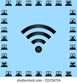 Wi-fi icon, wireless network vector illustration