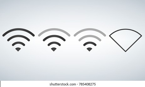 Wi-Fi icons levels. Signal strength indicator template, vector